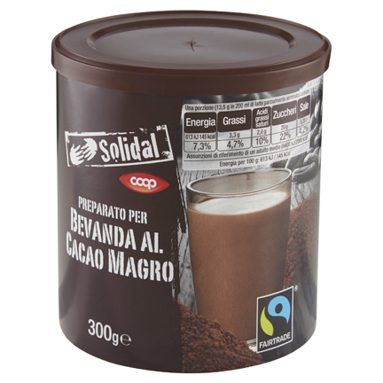PREPARATO SOLUBILE A BASE DI CACAO SOLIDAL COOP